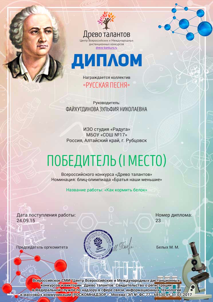 Педагогический конкурс талантов